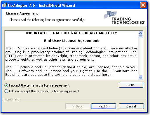 Install: Installing the TT FIX Adapter Software | Trading Technologies