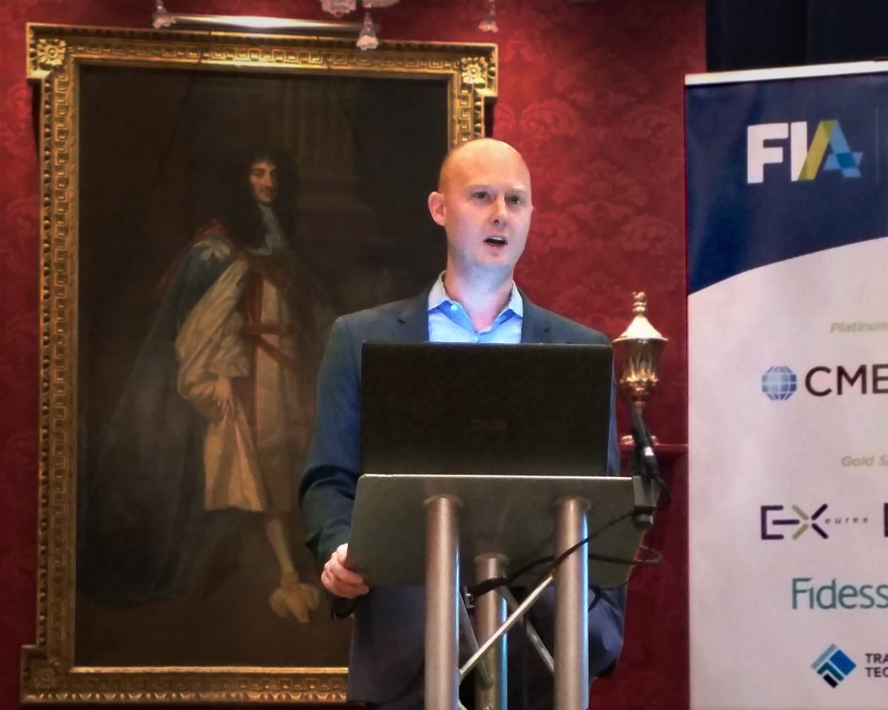 Drew Shields speaking at FIA's InfoNet event in London